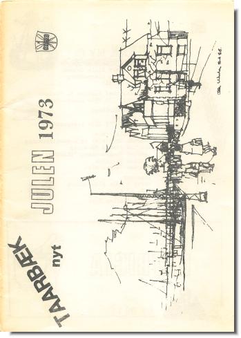 Forsidebillede af det første Taarbæk Nyt i Julen 1973